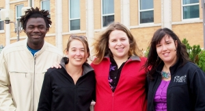 Les initiateurs; Cyrille Wandji, Catherine Berger, Marie-Claude Soucy et Marianne Iza, bénévole au sein du comité en 2010.