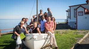 Journée de découverte de La Matanie lors du séjour exploratoire de l'automne 2016 en collaboration avec Place aux Jeunes de la région de Matane.