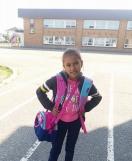 Première journée à l'école Zénon-Soucy pour Andrea